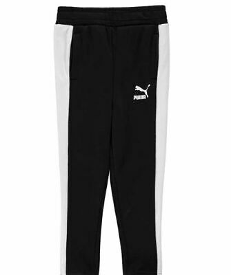 Puma Classic Tracksuit Bottoms Pants Joggers Black Girls Age 13 Years *Ref120