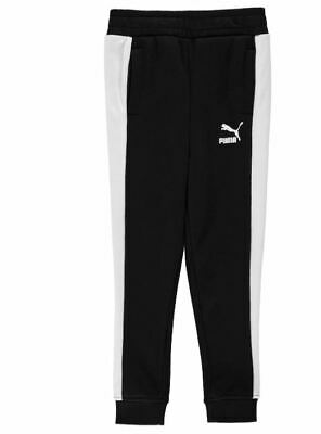 Puma Classic Tracksuit Bottoms Pants Joggers Black Boys Age 13 Years *Ref112