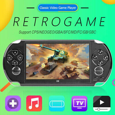 """X9 128Bit 5.1""""Handheld Screen MP3 Video Player Game Console Built-in 1500 Game"""
