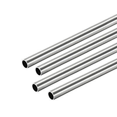 304 Stainless Steel Round Tubing 5mm OD 0.4mm Wall Thickness 250mm Length 2 Pcs