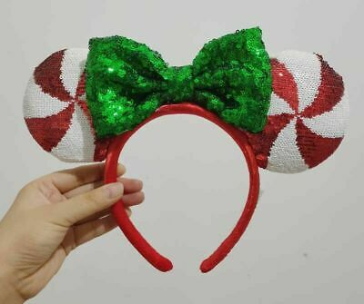 Disney Parks Mickey Minnie Mouse Lollipop Ears Headband
