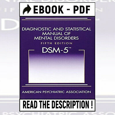 DSM-5:Diagnostic and Statistical Manual of Mental Disorders; P-D-F Version 📥🔥