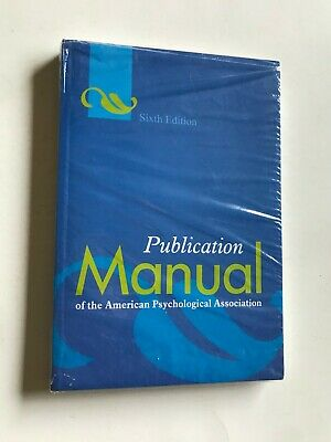 BRAND NEW APA Publication Manual of the American Psychological Association Book