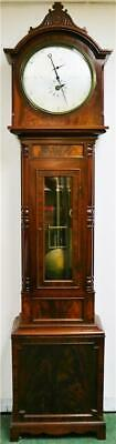 Luxury Antique Regency 8 Day Flame Mahogany Precision Regulator Longcase Clock