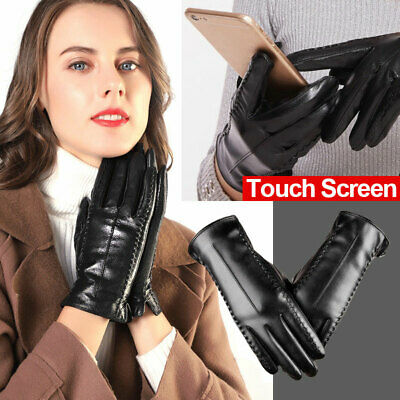 Leather Touch Screen Gloves Soft Warm Winter Women Texting Active For MoblePhone