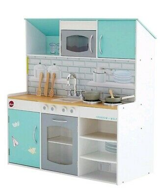 Plum Peppermint Townhouse 2 in 1 Wooden Kitchen & Dolls House Play Set NEW BOXED