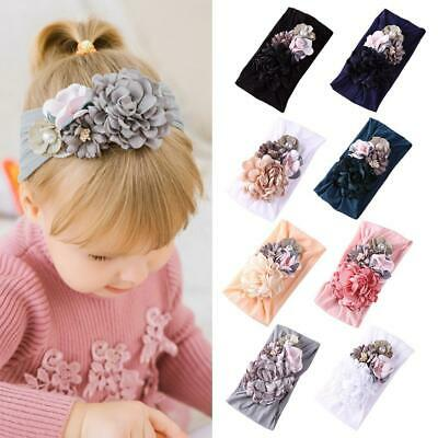 Baby Girls Kids Bunny Bow Knot Turban Headband Hair Band Headwrap BEST