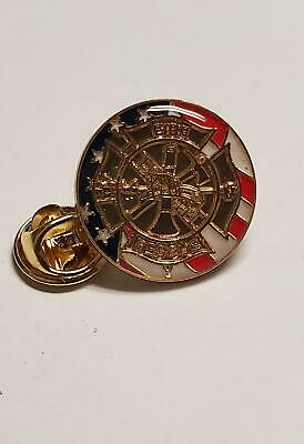 American Flag Fire Rescue Firefighter Lapel pin Cloisonné UNITED STATES U.S.A.