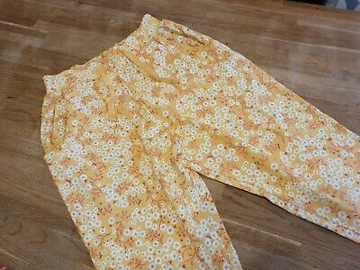 NEXT Girls floral yellow pants, Age 5 years * brand new*