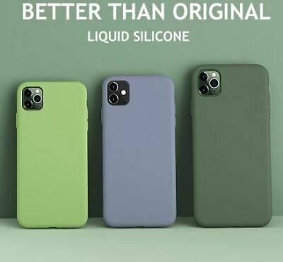 Liquid Silicone Thin Case For iPhone 11 (6.1) / Pro / Max Org Candy Full Cover
