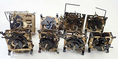 Lot Of 8 Vintage German Cuckoo Clock Movement Parts Repair
