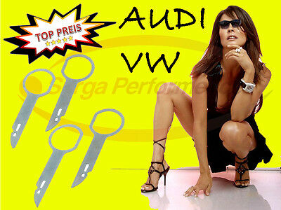 4 Piece Radio Extractor Hook, Removal Tool, VW Skoda Audi New Tool