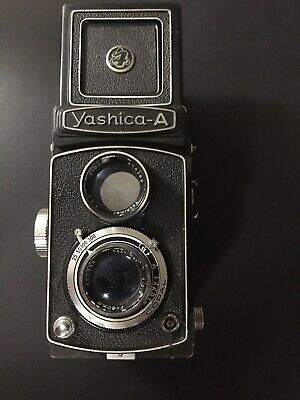 Yashica A Tlr Twin Lens Reflex Film Camera For Parts Or Repair