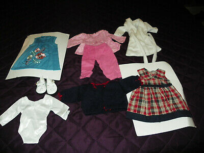 """Lot of Doll Clothes #2 Dresses / PJs / Shoes   fits 18"""" American Girl Dolls"""