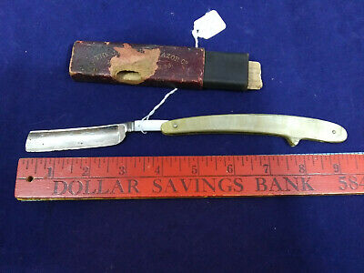 "J.r. Torrey Pearl Straight Razor. 1902 Antique With Box + Intructions. 9"" Inch"