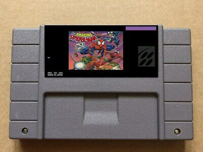 The Amazing Spider Man - Lethal Foes SNES Video Game Cart NTSC USA FREE SHIPPING