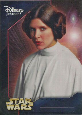 Star Wars Disney Store Series 1 Promo Card 7 Carrie Fisher as Princess Leia