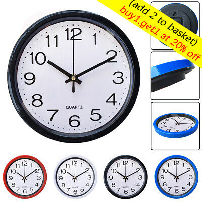 Modern Round Wall Clock Sweep Second Movement Quartz Bell Kitchen Home Decor