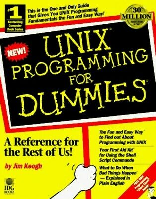 Unix Programming For Dummies by Keogh Paperback Book The Cheap Fast Free Post