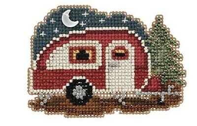 Mill Hill Counted Glass Bead Kit With Treasure HAPPY CAMPER