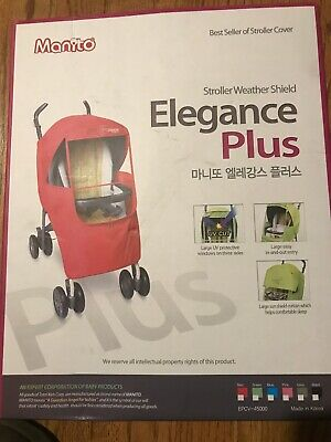 Manito Elegance Plus Stroller Weather Shield/Rain Cover,Red