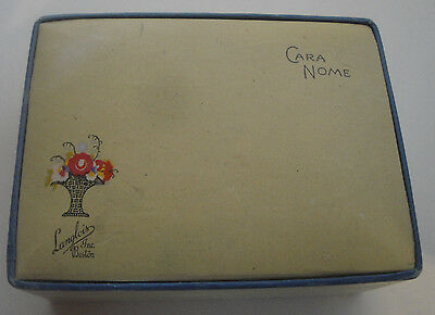 Vintage Cara Nome Langlois Inc. Boston Powder Box with Powder