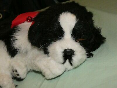 Perfect Petzzz Black and White Breathing dog tested working SUPER CUTE!
