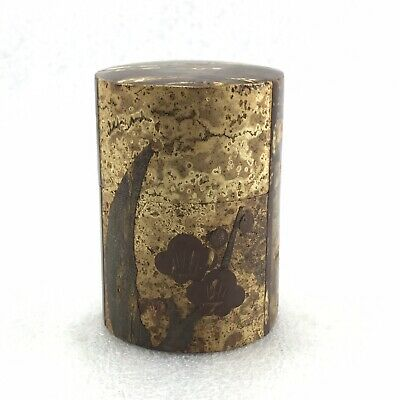Ma3 Japanese Cherry bark Crafts TEA CADDY Chaire Container Tea Ceremony Plum