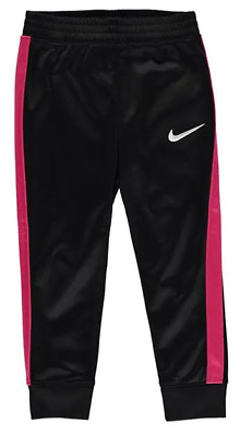 NIKE Swoosh Track Pants Infant Girls Black Pink *REF120