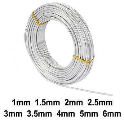 500g/Roll Silver Aluminum Wire Beading Cord Wrapped Jewelry Making Craft 1~6mm