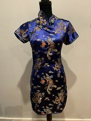 Ladies Size 12 Dress Cheongsam Traditional Singapore Evening Dress pre owned