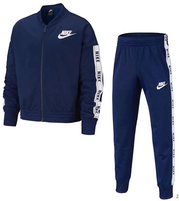 NIKE Blue Tricot Suit Girls tracksuit set Girls UK 11-12 yrs *Ref123