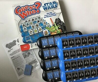 """2008 Guess Who """"Star Wars"""" Edition Board Game Milton Bradley Box Instructions"""