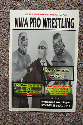 The Road Warriors vs The Midnight Express  Poster 1986 Dusty Rhodes vs Ric Flair
