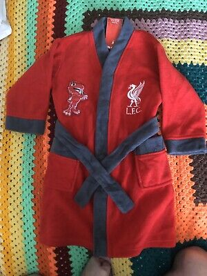Liverpool Fc Boys Childs Bath Robe Dressing Gown Age 3-4 Years Lfc Official