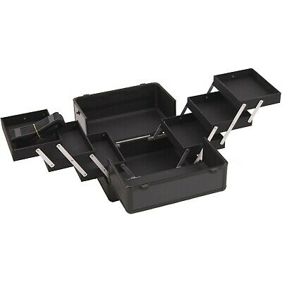 """Makeup Case 6 Tier Cantilever Trays 12""""x8""""x9.5"""" 6 Extendable Pull Out Storage"""