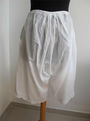 Victorian Bloomers Drawers Pantaloons Antique Fine Embroidered Lawn Lace c1900