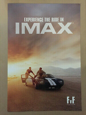 "5 Ford vs Ferrari Movie 13""x19"" Limited Edition Canadian IMAX Posters PROMO"