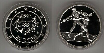 GRIECHENLAND   10 Euro 2004   Olympiade  Speerwurf   Silber/PP