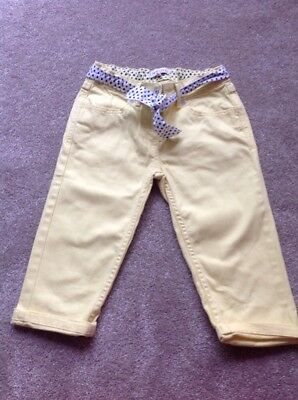 Beautiful Girls M&S Yellow Cropped Trousers/jeans. Size 10 Years