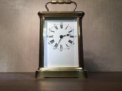 Antique French Carriage Clock 8 day excellent timekeeper.