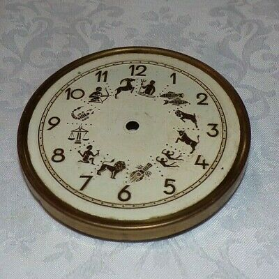 Vintage Mantel Clock Face With Signs Of The Zodiac