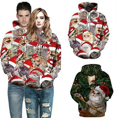 Mens Womens Couples Christmas Funny Ugly Sweatshirt Xmas Hoodie Jumper Pullover