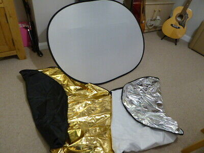 """5 in 1 Collapsible Reflector Oval Photo Studio 90 x 120 cm (35 """"x 47 ')"""