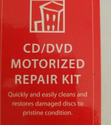 DVD CD Motorized Disc Repair Kit Disk Cleaner Scratch Remover Skipping repair.