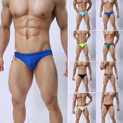 Men Low Rise Swimmimg Trunks Boxer Briefs Swimwear Shorts Beach Bikini Underwear