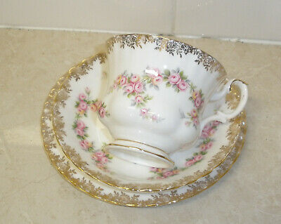Royal Albert Dimitty Rose Cup Saucer and plate
