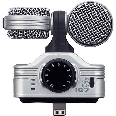 Zoom iQ7 Mid Side Condenser Microphone for iOS iPad iPhone iPod Touch iQ 7