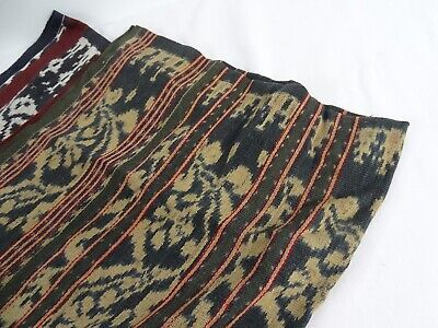 Indo Textile Collection 2 Old Indonesian Hand Loom Ikat Womans sarongs c1960s -
