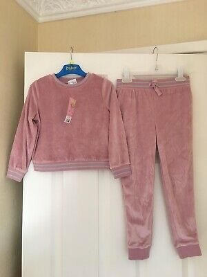 Evie Girls Velour Tracksuit Outfit Age 4-5 BNWT Next P&P Pink Xmas Gift Lovely